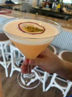 Passion Fruit and White Choc Martini