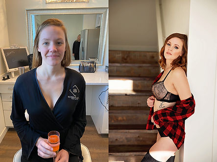 Boudoir Photography Before and After, Wisconsin