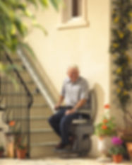 stannah outdoor stairlift by livogis aging at home solutions houston texas