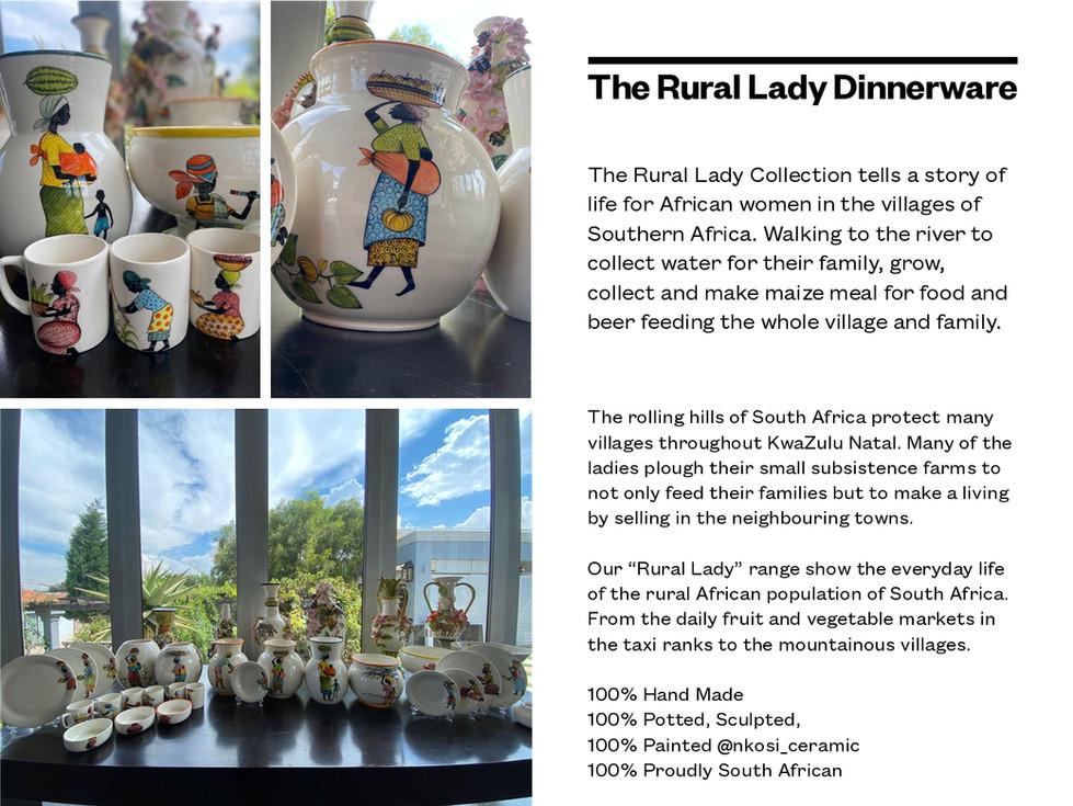 The Rural lady Dinnerware
