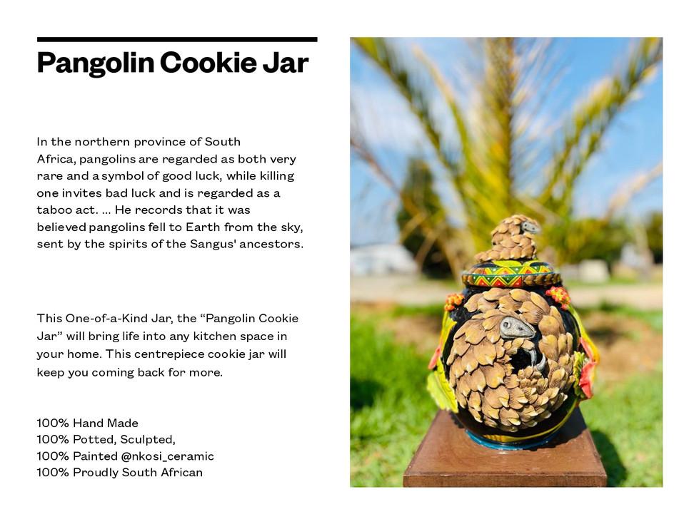 Pangolin Cookie Jar