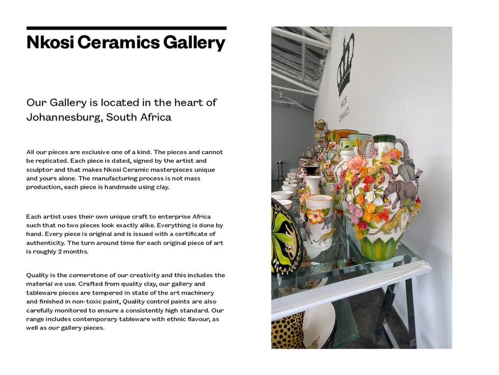 Nkosi Ceramics Gallery