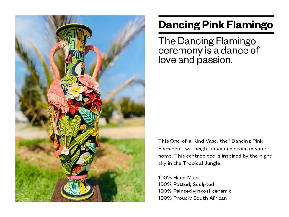 Dancing Pink Flamingo