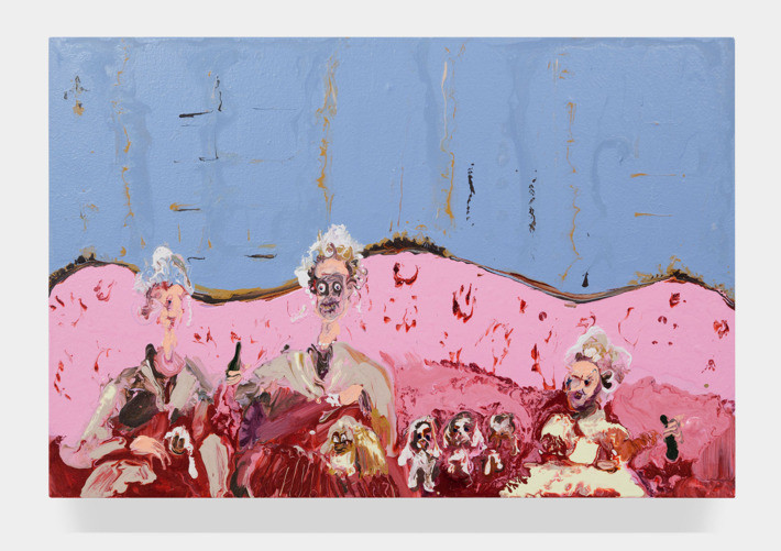 Pink Couch by Genieve Figgis
