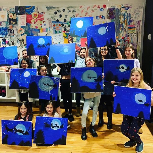 Amazing #paintandsip #birthday #party to