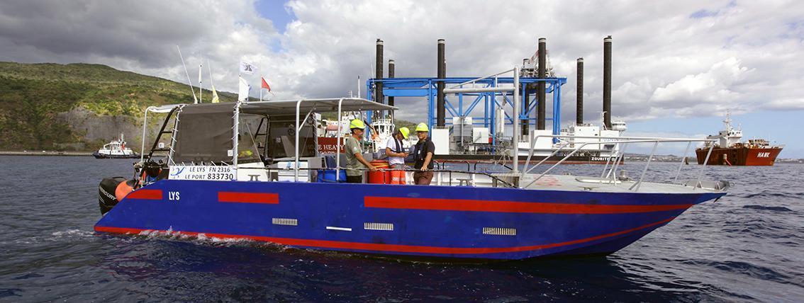 Navire d'intervention rapide survey/ROV/plongée