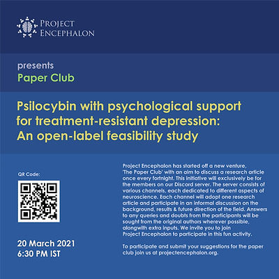 Paper Club: Psilobycin with psychological support for treatment-resistant depression: An open-label feasibility study