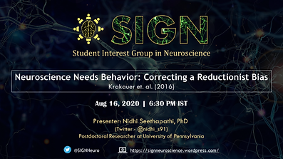 Journal Club by Nidhi Seethapathi: Aug 16, 2021