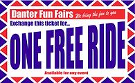 Kurt Hill Fun Fairs One Free Ride Ticket