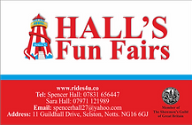 Hall's Fun Fairs Business Card