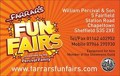 Farrars Fun Fairs Business Card