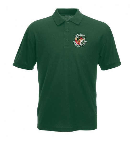 Green Polo Shirt with School Badge