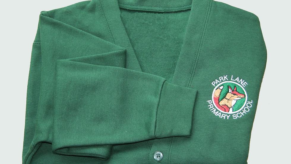 Green Cardigan with Logo