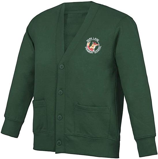 Green Cardigan with School Badge
