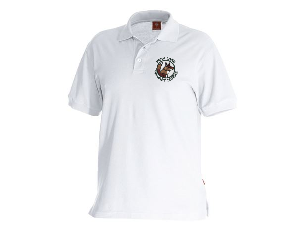 White Polo Shirt with School Badge