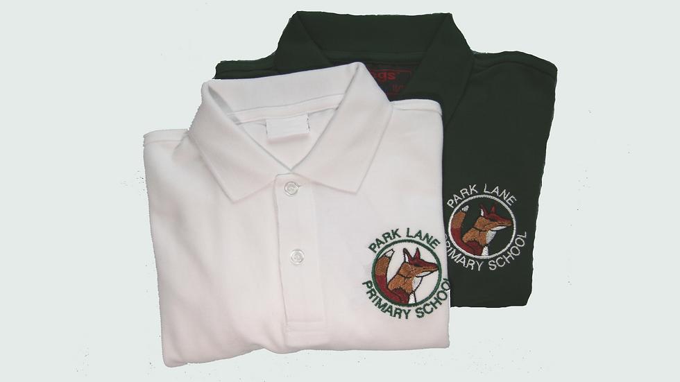 White Polo Shirt with Logo
