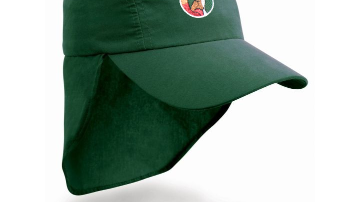 SunScreen Legionnaires Cap with School Badge