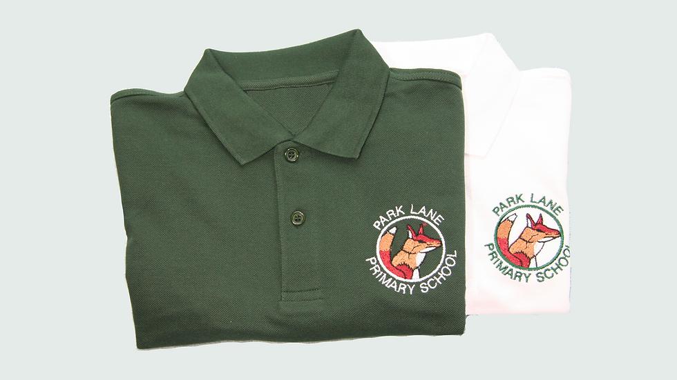 Green Polo Shirt with Logo