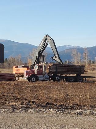 Logging loader and Log Truck