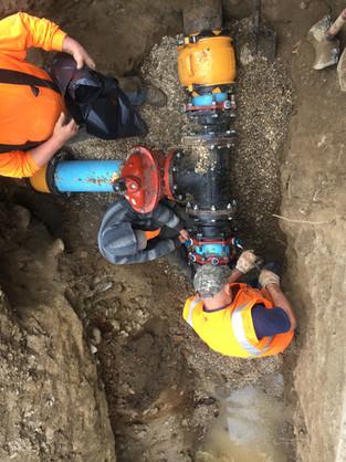 Reparing Water Line