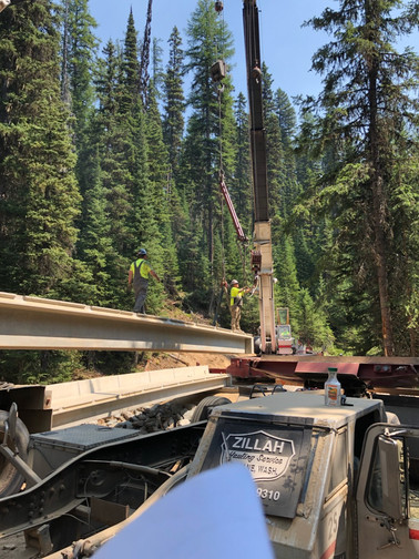 Setting the Big Foot Ck Bridge