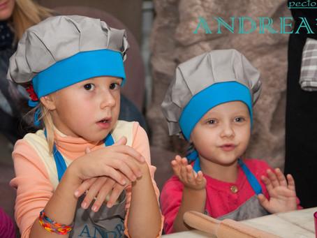 Фотоотчет со второго занятия в детской кулинарной школе ANDREA'S