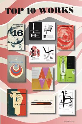 Alvin Lustig Booklet - Top 10 Works