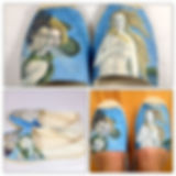 Birth of Venus painted espadrilles