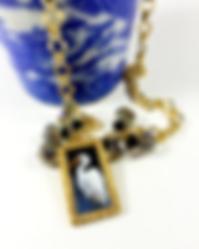 Egret necklace