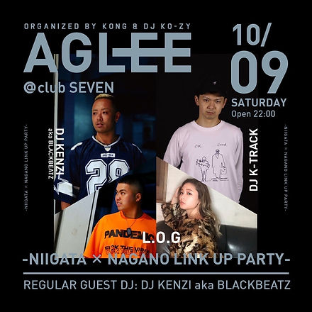 AGLEE niigata seven club dj