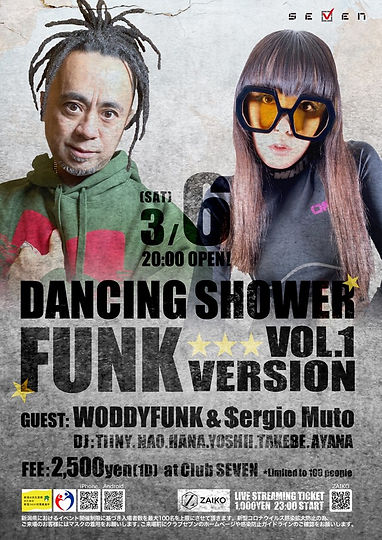 DANCING SHOWER woddyfunk funk club seven live dj soul 新潟イベント ライブ