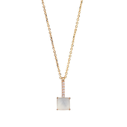 Faceted Quartz and Diamonds Empire Necklace