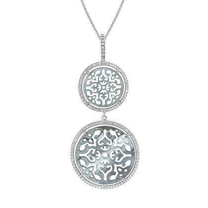 Double Diamonds Antracite Damasco Necklace