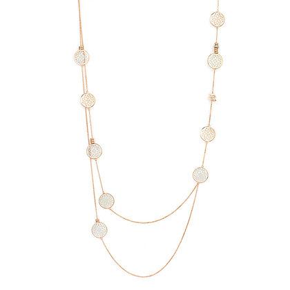 Layered Rose Gold Damasco Necklace