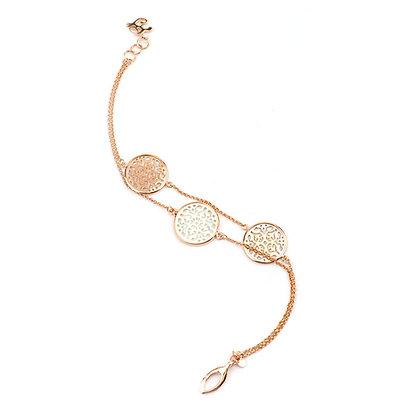 Layered Rose Gold Damasco Bracelet