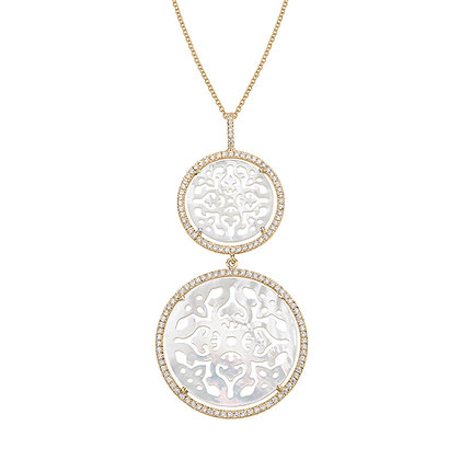 Double Diamonds Damasco Necklace