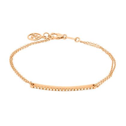 Rose Gold Smile chain Bracelet