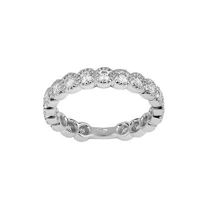 Medium White Gold Smile Ring