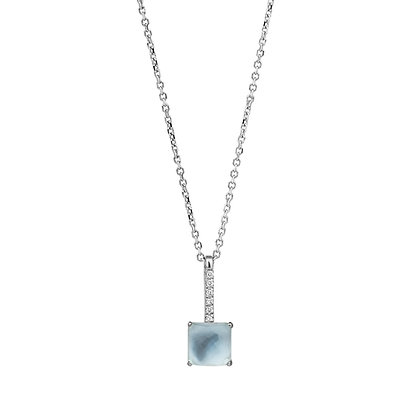Faceted Topaz and Diamonds Empire Necklace