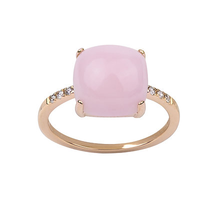 Opal and Diamonds Empire Ring