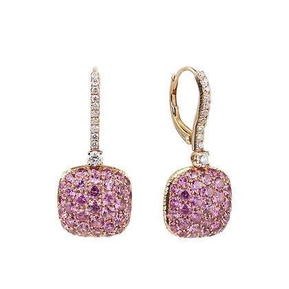 Pink Quartz Parc Guell Earrings