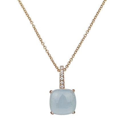 Aquamarine and Diamonds Empire Necklace