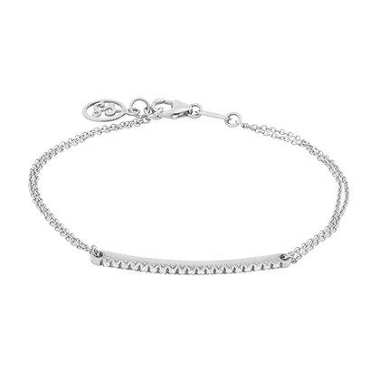 White Gold Smile chain Bracelet