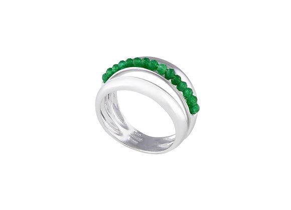 Anello Eliche Giada Verde