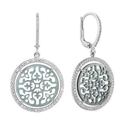 Diamonds Antracite Damasco Earrings