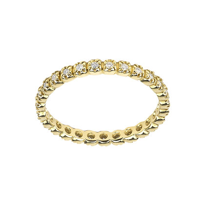 Yellow Gold Smile Ring