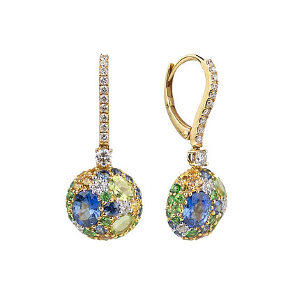 Mosaic Parc Guell Earrings
