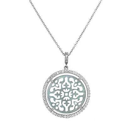 Diamonds Antracite Damasco Necklace