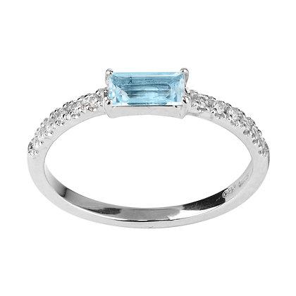 Topaz and Diamonds Empire Ring