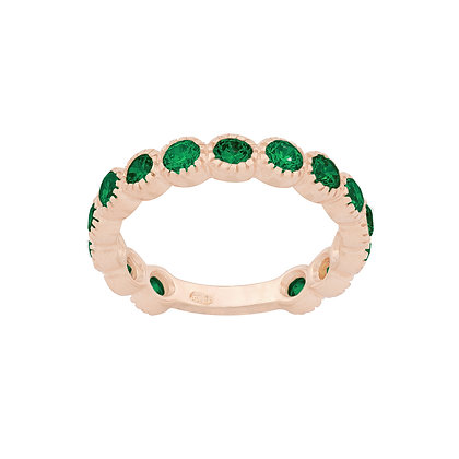 Emeralds Smile Ring